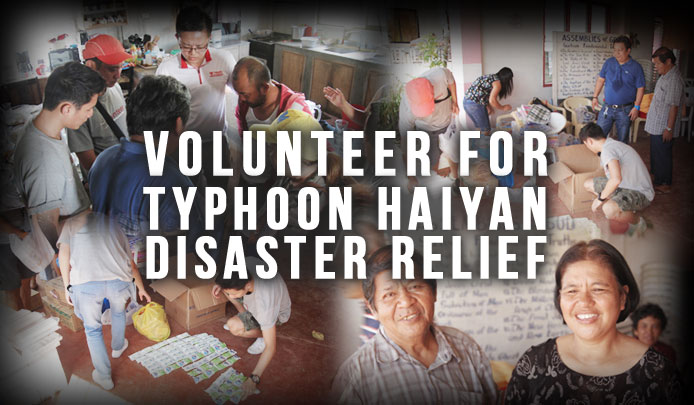 Volunteer for Typhoon Haiyan Disaster Relief